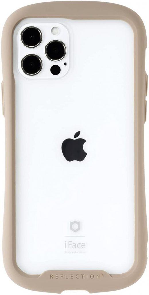 iFace Reflection iPhone 12/12 Pro ケース クリア 強化ガラス [ベージュ]