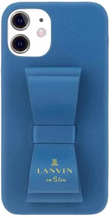 LANVIN en Bleu SLIM WRAP CASE STAND & RING RIBBON iPhone ケース